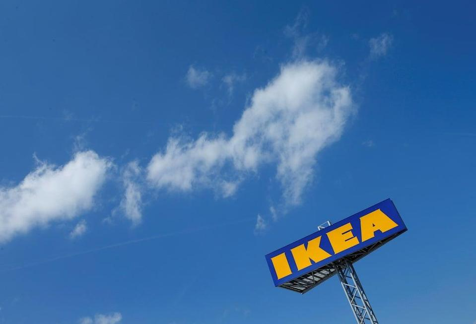 The logo of IKEA is seen above a store in Voesendorf, Austria (REUTERS)