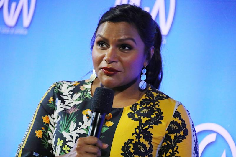 Mindy Kaling speaks onstage during Producers Guild Of America's 11th Annual Produced By Conference at Warner Bros. Studios on June 8, 2019 in Burbank, California.