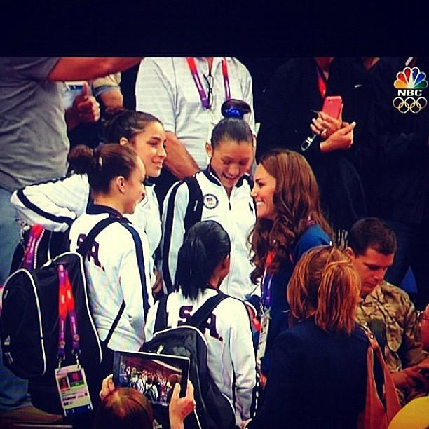 Yesterday we met the Duchess, Kate Middleton! She was so nice and she told us she loved our leotards! ‏@jordyn_wieber