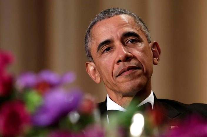 <p>President Obama attends the White House Correspondents' Dinner in Washington, April 30.<i> (Yuri Gripas/Reuters)</i></p>