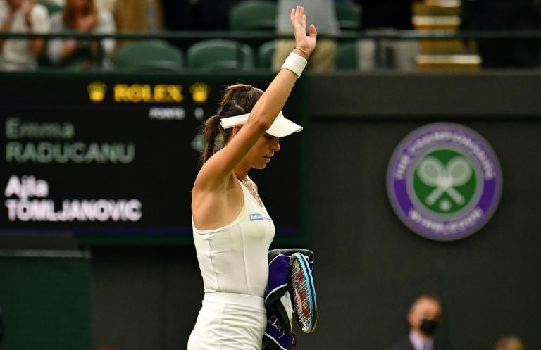 Split loyalties -- Ajla Tomljanovic and her cousin Nina Ghaibi date Matteo Berrettini and Felixi Auger-Aliassime who meet in a men's Wimbledon quarter-final though all will be united to cheer Tomljanovic in her quarter-final on Tuesday
