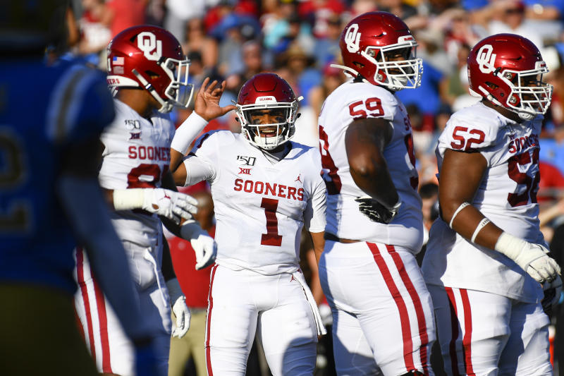 Jalen Hurts and Oklahoma have been the best team in the best conference so far this season. (Getty)
