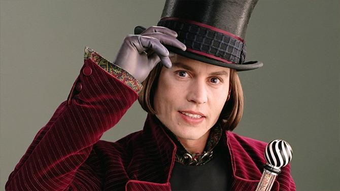 Johnny Depp como Willy Wonka en 2005.