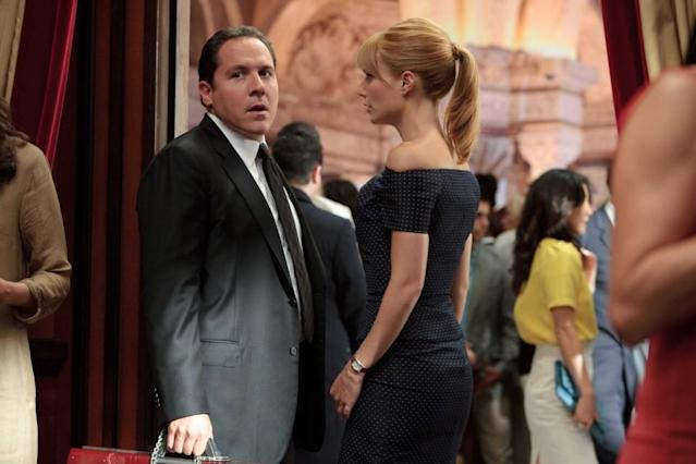 "Jon Favreau as Happy Hogan and Gwyneth Paltrow as Pepper Potts in ""Iron Man 2."" (Photo: Marvel Studios)"