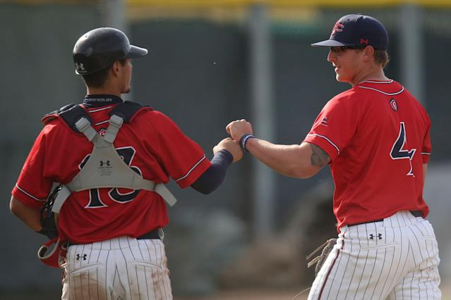 Saint Mary's made a one-of-a-kind triple play on Friday. (AP Photo/Scot Tucker)