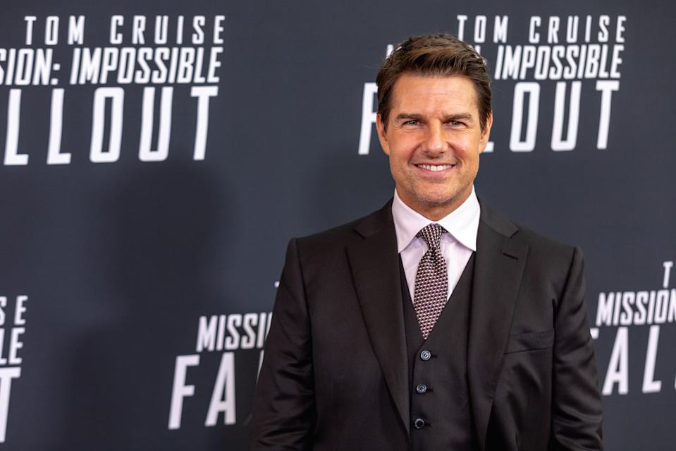 "Tom Cruise, who plays ""Ethan Hunt"" in Mission: Impossible  Fallout, walks the red carpet of the U.S. premiere at the Smithsonian National Air and Space Museum in Washington, D.C., on Sunday, July 22, 2018. (Photo by Cheriss May/NurPhoto via Getty Images)"