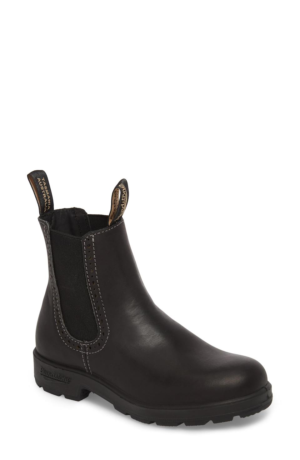 "<br><br><strong>Blundstone</strong> Original Series Water Resistant Chelsea Boot, $, available at <a href=""https://go.skimresources.com/?id=30283X879131&url=https%3A%2F%2Fshop.nordstrom.com%2Fs%2Fblundstone-footwear-original-series-water-resistant-chelsea-boot-women%2F4466007%3F"" rel=""nofollow noopener"" target=""_blank"" data-ylk=""slk:Nordstrom"" class=""link rapid-noclick-resp"">Nordstrom</a><span class=""copyright"">Photo Courtesy of Nordstrom.</span>"