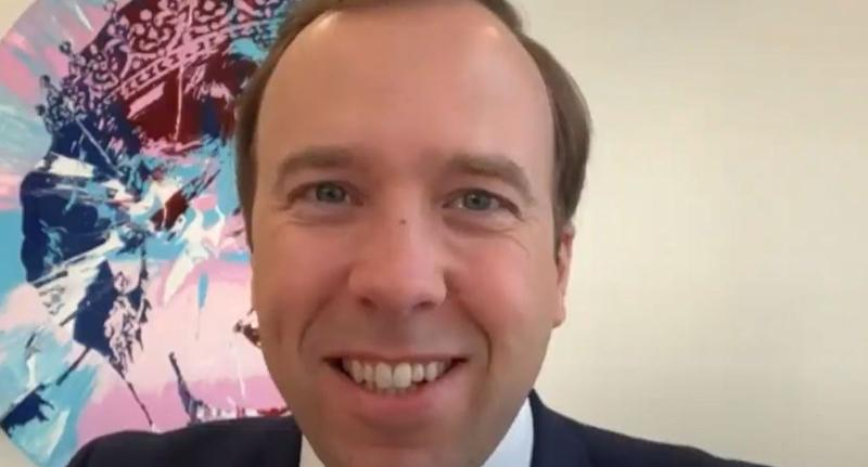 Matt Hancock said people should 'follow the instructions from the NHS'