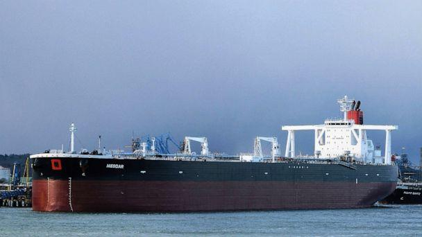 PHOTO: In this May 2, 2013 photo the Liberian-flagged oil tanker Mesdar is seen at an unknown location.  (John Pitcher via AP)