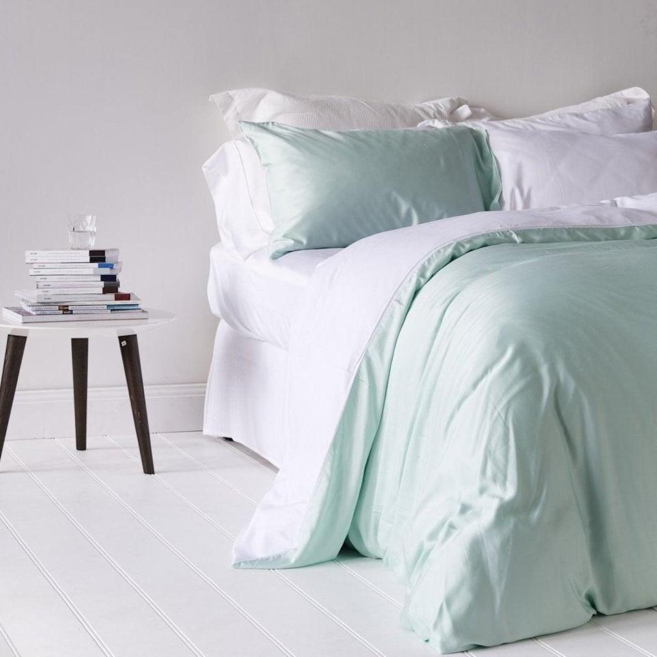 """<br> <br> <strong>Ettitude</strong> Colorblock Duvet Cover, $, available at <a href=""""https://go.skimresources.com/?id=30283X879131&url=https%3A%2F%2Fwww.ettitude.com%2Fcollections%2Fbamboo-duvet-covers%2Fproducts%2Fbamboo-lyocell-colourblock-duvet-cover"""" rel=""""nofollow noopener"""" target=""""_blank"""" data-ylk=""""slk:Ettitude"""" class=""""link rapid-noclick-resp"""">Ettitude</a>"""