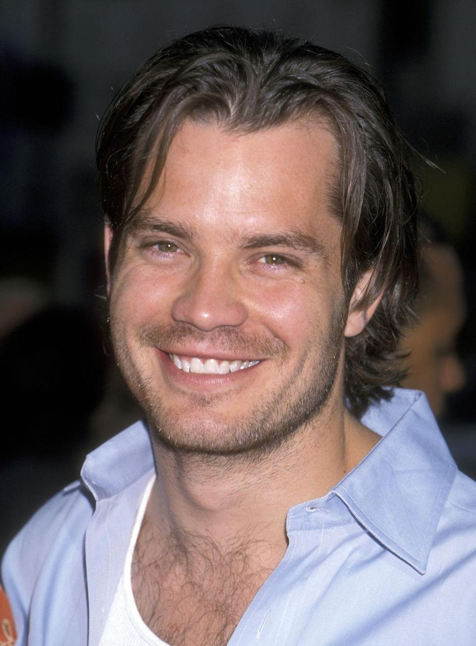 <p>When Olyphant rose to fame in the '90s in <em>The Broken Hearts Club, </em>he had the grunge look down with his facial scruff and long flowing hair. </p>