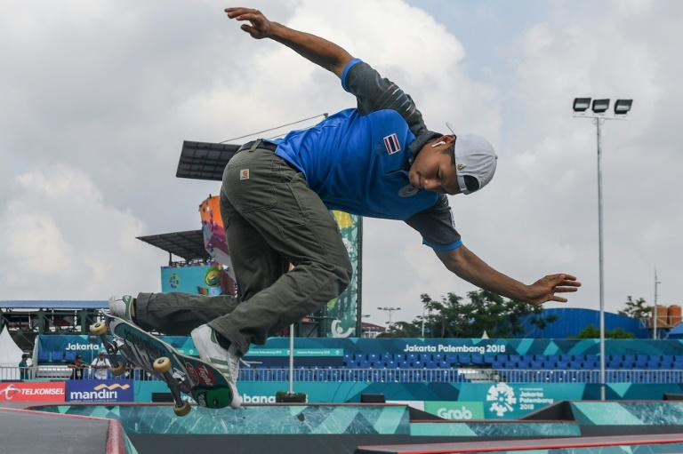 """Oat"" Athiwat's way out of poverty came when a university student showed him some skateboarding tricks one day and he became instantly hooked"