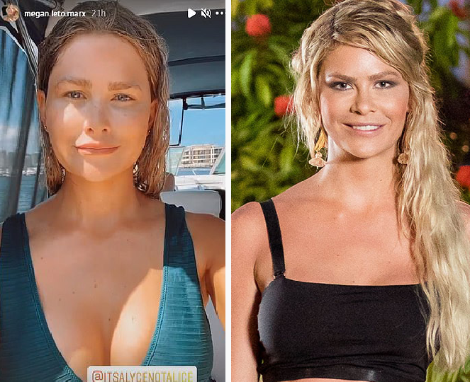 Megan Marx transformation (left) now and before on Bachelor (right)