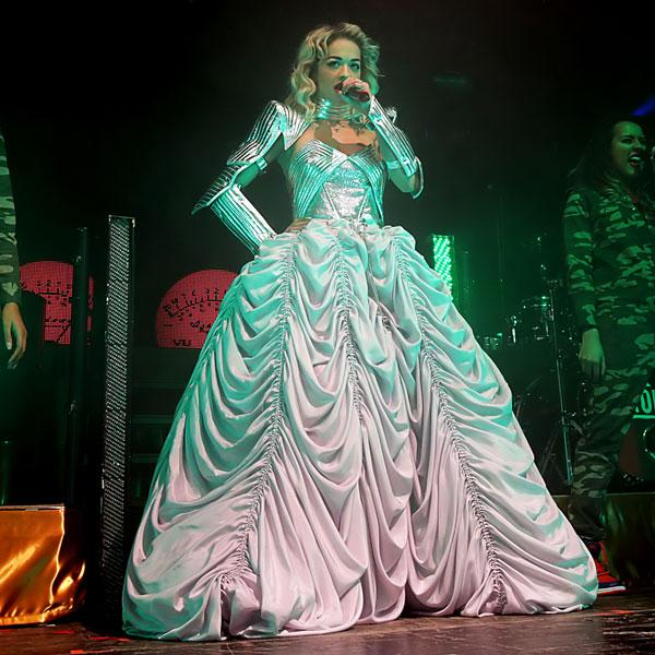 <b>Rita Ora's Emilio Pucci Radioactive tour wardrobe </b><br><br>The singer worked the Pucci dress on stage in Manchester.<br><br>© WENN
