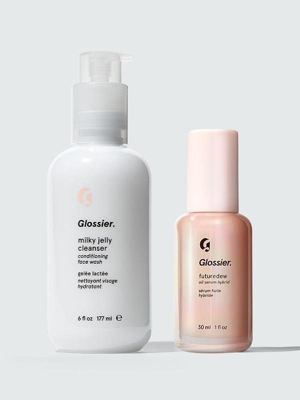 """<p><strong>Glossier</strong></p><p>glossier.com</p><p><strong>$34.00</strong></p><p><a href=""""https://go.redirectingat.com?id=74968X1596630&url=https%3A%2F%2Fwww.glossier.com%2Fproducts%2Fmilky-jelly-cleanser-futuredew&sref=https%3A%2F%2Fwww.cosmopolitan.com%2Fstyle-beauty%2Ffashion%2Fg13602855%2Fbest-gift-ideas-for-women%2F"""" rel=""""nofollow noopener"""" target=""""_blank"""" data-ylk=""""slk:Shop Now"""" class=""""link rapid-noclick-resp"""">Shop Now</a></p><p>Give the gift of soft, clean, glowy skin with these two cult-favorite products. The Milky Jelly Cleanser washes away impurities without stripping the skin, and the Futuredew serum gives just the right amount of sheen for a healthy-looking complexion.</p>"""