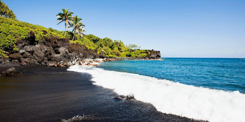 """<p>Located on the Big Island, <a href=""""https://www.tripadvisor.com/Attraction_Review-g29217-d109631-Reviews-Punaluu_Black_Sand_Beach-Island_of_Hawaii_Hawaii.html"""" rel=""""nofollow noopener"""" target=""""_blank"""" data-ylk=""""slk:Punalu'u"""" class=""""link rapid-noclick-resp"""">Punalu'u</a> is the most famous of Hawaii's <a href=""""https://www.bestproducts.com/fun-things-to-do/news/a1736/black-sand-beaches-in-the-world/"""" rel=""""nofollow noopener"""" target=""""_blank"""" data-ylk=""""slk:black-sand beaches"""" class=""""link rapid-noclick-resp"""">black-sand beaches</a>. In addition to a long, wide stretch of dark-hued sand dotted with volcanic rocks, you can often see endangered green and hawksbill turtles sunning themselves.</p><p><a class=""""link rapid-noclick-resp"""" href=""""https://go.redirectingat.com?id=74968X1596630&url=https%3A%2F%2Fwww.tripadvisor.com%2FHotel_Review-g60608-d89980-Reviews-Hilton_Waikoloa_Village-Waikoloa_Kohala_Coast_Island_of_Hawaii_Hawaii.html&sref=https%3A%2F%2Fwww.redbookmag.com%2Flife%2Fg34756735%2Fbest-beaches-for-vacations%2F"""" rel=""""nofollow noopener"""" target=""""_blank"""" data-ylk=""""slk:BOOK NOW"""">BOOK NOW</a> Hilton Waikoloa Village</p><p><a class=""""link rapid-noclick-resp"""" href=""""https://go.redirectingat.com?id=74968X1596630&url=https%3A%2F%2Fwww.tripadvisor.com%2FHotel_Review-g2312116-d113123-Reviews-Fairmont_Orchid_Hawaii-Puako_Kohala_Coast_Island_of_Hawaii_Hawaii.html&sref=https%3A%2F%2Fwww.redbookmag.com%2Flife%2Fg34756735%2Fbest-beaches-for-vacations%2F"""" rel=""""nofollow noopener"""" target=""""_blank"""" data-ylk=""""slk:BOOK NOW"""">BOOK NOW </a> The Fairmont Orchid</p>"""