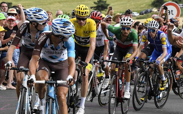 <span>Bardet looks over his shoulder towards Froome</span> <span>Credit: Getty Images </span>