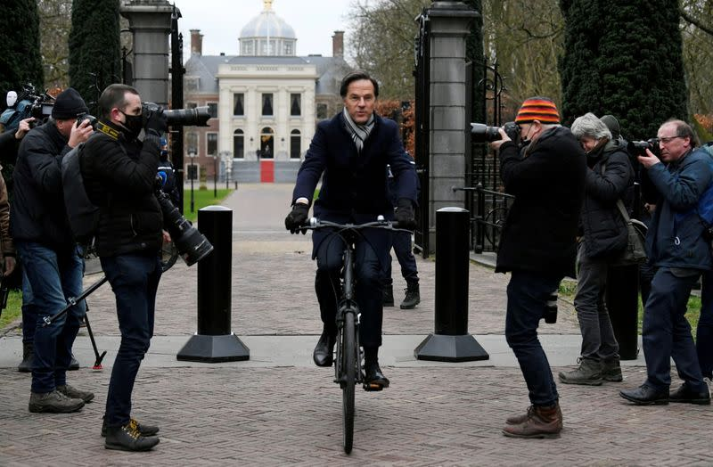 FILE PHOTO: Dutch Prime Minister Mark Rutte leaves the Royal Palace in The Hague