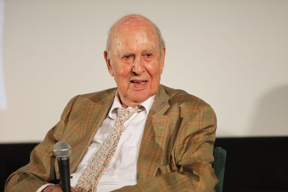 "Carl Reiner attends the special screening and Q&A ""Rose Marie: Wait for Your Laugh"" at Aero Theatre on August 3, 2017 in Santa Monica, California. (Photo by John Wolfsohn/Getty Images)"