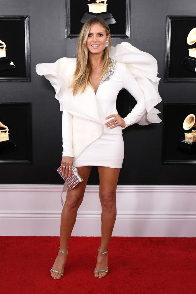 <p>Heidi Klum attends the 61st annual Grammy Awards at Staples Center on Feb. 10, 2019, in Los Angeles. </p>