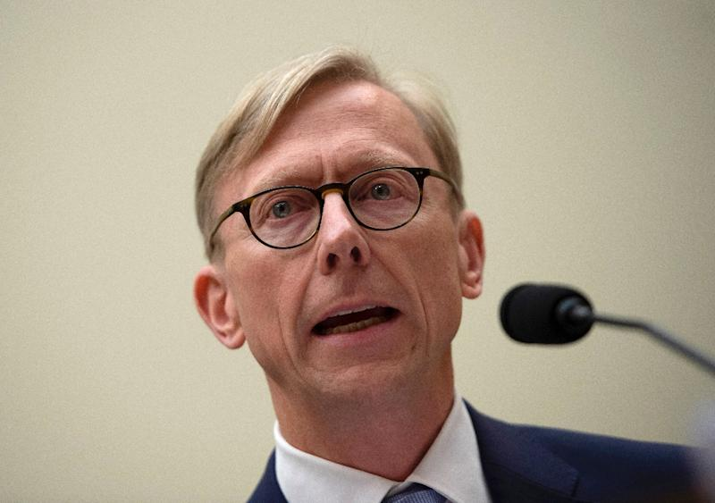 Brian Hook, the US special representative for Iran, testifies before the House Foreign Affairs Subcommittee on the Middle East