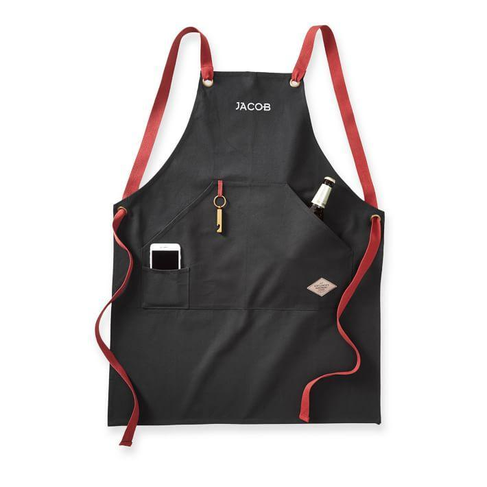 "The grill master can keep all his tools on deck with this durable cotton apron that will hold up through the years. $59, Mark & Graham. <a href=""https://www.markandgraham.com/products/barbecue-apron/?pkey=cbest-selling-gifts&isx=0.0.4925"" rel=""nofollow noopener"" target=""_blank"" data-ylk=""slk:Get it now!"" class=""link rapid-noclick-resp"">Get it now!</a>"