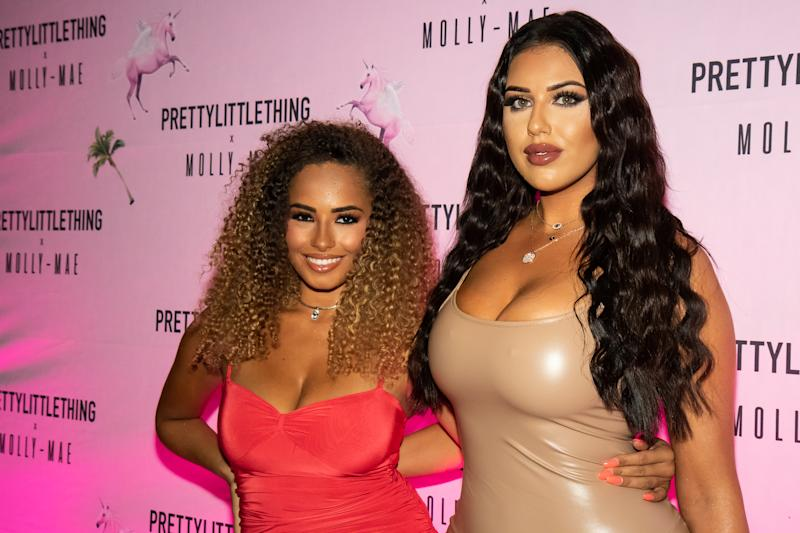 MANCHESTER, ENGLAND - SEPTEMBER 01: Amber Gill and Anna Vakili attend the Pretty Little Thing X Molly-Mae party at Rosso on September 01, 2019 in Manchester, England. (Photo by Carla Speight/Getty Images)