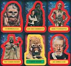 <p>These widely disseminated images are familiar to anyone who bought the Topps cards back in the late '70s, or any other <i>Star Wars</i> product of the era. Due to high-demand and limited photo assets, the same photos of the key players were constantly recycled in merchandise. (Credit: The Topps Company and Lucasfilm Ltd (C) Abrams Books) </p>