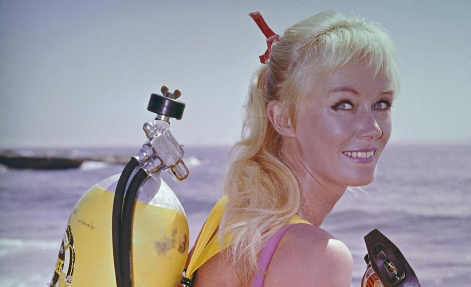 Pioneering underwater diver, Valerie Taylor, is the subject of the new documentary, 'Playing with Sharks.' (Photo: Disney+)