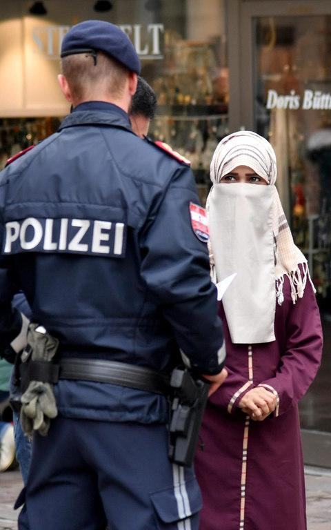 Austria's ban on full-face Islamic veils comes into force following similar measures in other European countries - Credit: BARBARA GINDL/AFP/Getty Images