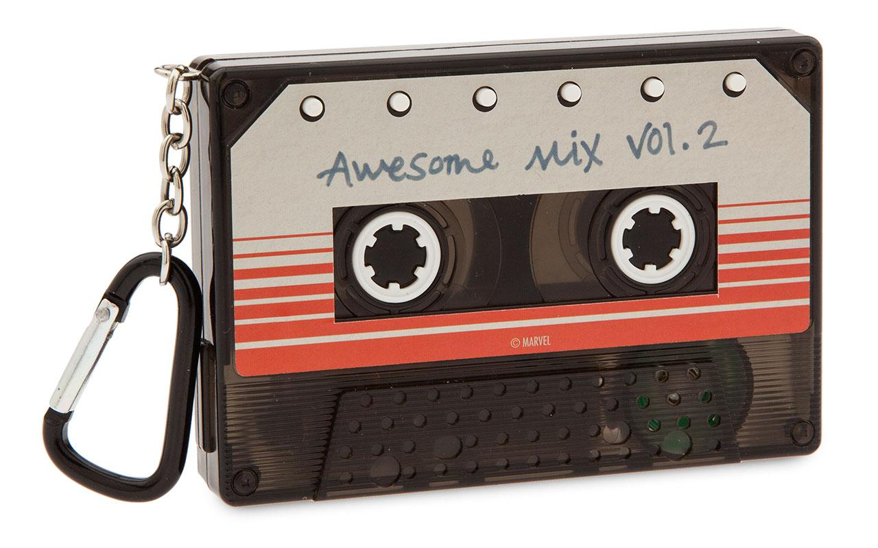 <p>Price: RRP £7.99.<br /> Stockist: Disney Store and Disneystore.co.uk.<br /> Product Description: Budding Star-Lords will always have an awesome soundtrack on hand with this Guardians of the Galaxy Vol. 2 Sound Machine. Shaped like Peter Quill's mix tape, it features six sound effects. </p>