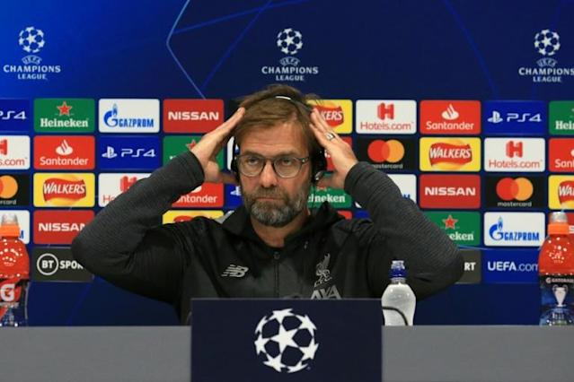 Liverpool manager Jurgen Klopp takes part in a press conference on the eve of his side's Champions League match against Napoli (AFP Photo/Lindsey Parnaby)
