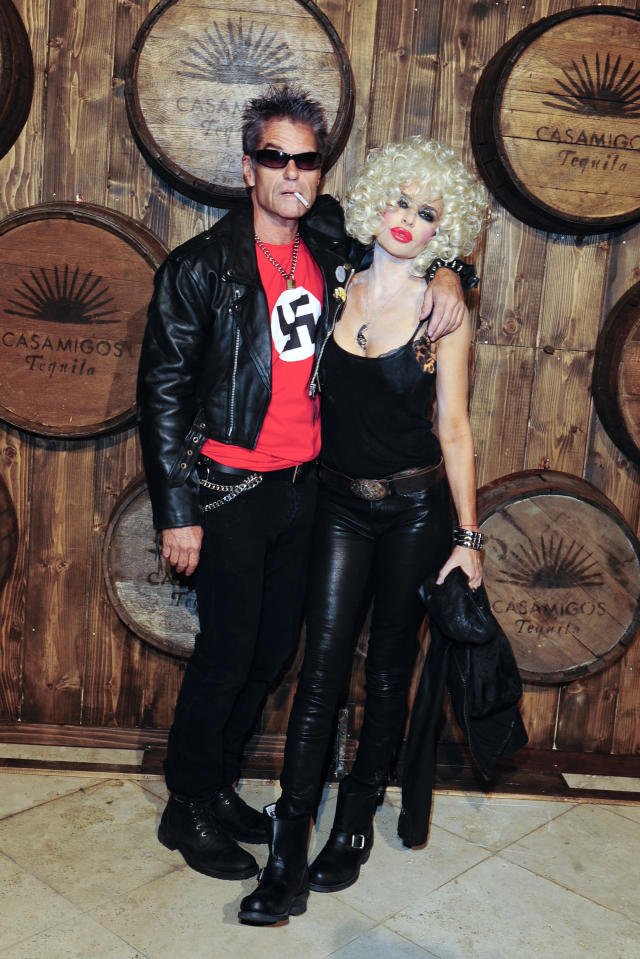 "<p>Again, swastikas are a no. In 2015, Harry Hamlin and Lisa Rinna went as Sid Vicious and Nancy Spungen and that included this offensive shirt. The <em>Real Housewives</em> personality apologized on their behalf, saying, ""We were being authentic to the characters of Sid [Vicious] and Nancy for our Halloween costumes, it hurt and angered many of you and we are deeply sorry for that."" (Photo: Amy Graves/Getty Images) </p>"