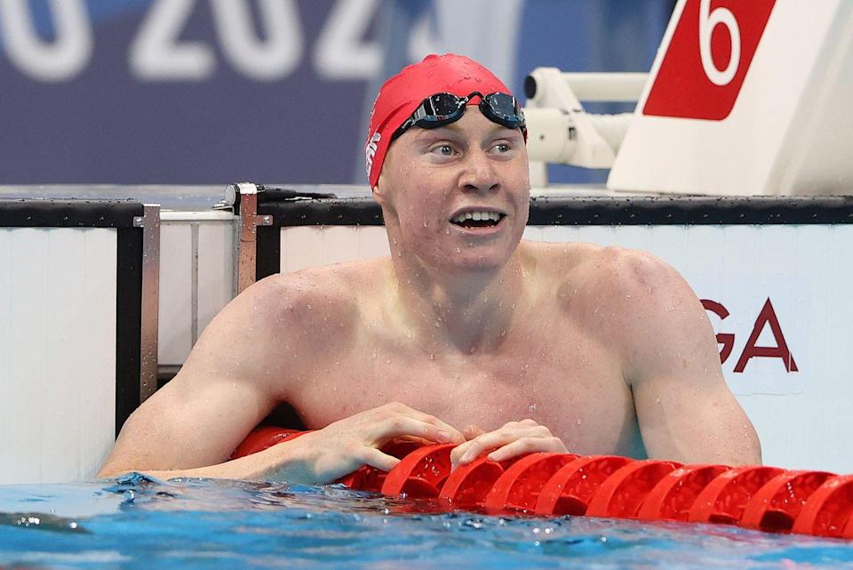 """<p>It was a one-two finish for Team GB in the men's 200m swimming freestyle final with Maidenhead's Tom Dean and Duncan Scott scooping gold and silver medals respectively. </p><p>After the race Dean expressed how grateful he was for the support back home saying, 'thanks so much to everyone back home, my mum, my family, my girlfriend, all the boys back in Maidenhead, thank you for staying up.""""</p>"""