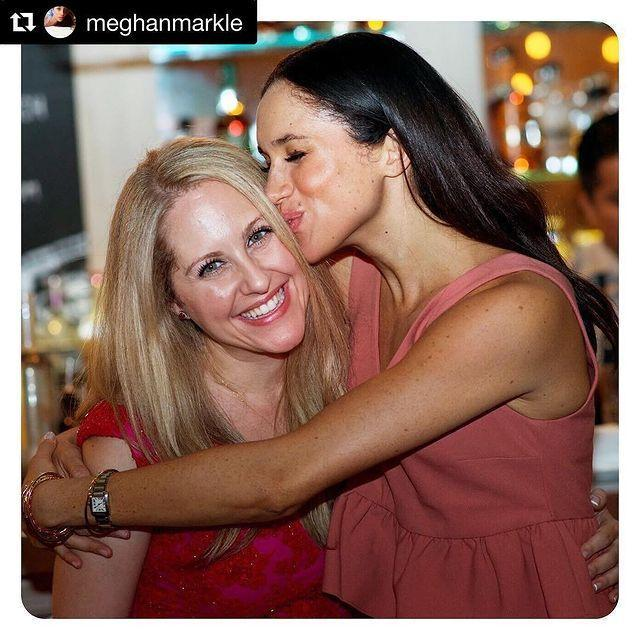"""<p>Meghan Markle served as the highest duty, maid of honor, for <a href=""""https://www.elle.com/culture/celebrities/a26410532/meghan-markle-close-friends/"""" rel=""""nofollow noopener"""" target=""""_blank"""" data-ylk=""""slk:BFF Lindsay Roth"""" class=""""link rapid-noclick-resp"""">BFF Lindsay Roth</a>. The pair met in a Toni Morrison college lit class at Northwestern University, and the rest was history. Meghan wore a beautiful, high-necked <a href=""""https://www.elle.com/culture/celebrities/g8609/celebrity-bridesmaids/?slide=1"""" rel=""""nofollow noopener"""" target=""""_blank"""" data-ylk=""""slk:Lela Rose gown"""" class=""""link rapid-noclick-resp"""">Lela Rose gown</a> for the August 2016 nuptials.</p><p><a href=""""https://www.instagram.com/p/BJ5fvqigsfa/"""" rel=""""nofollow noopener"""" target=""""_blank"""" data-ylk=""""slk:See the original post on Instagram"""" class=""""link rapid-noclick-resp"""">See the original post on Instagram</a></p>"""