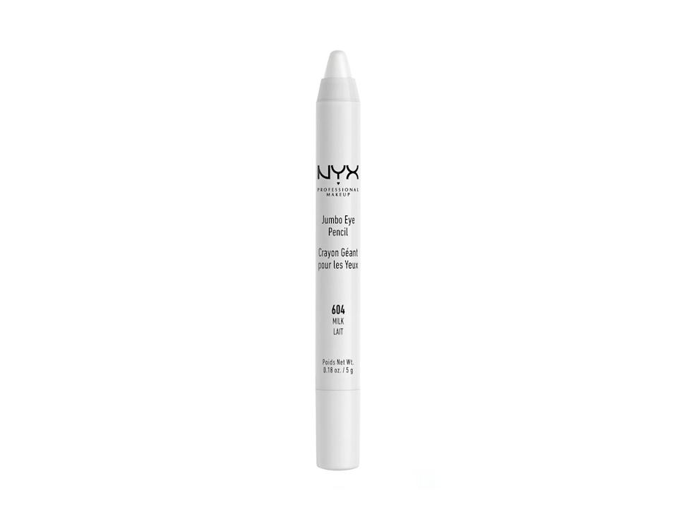 """<p>We're all about white eyeliner this year, for a clean, on-trend featival look. This jumbo crayon by NYX will do the job superbly. <br><a rel=""""nofollow noopener"""" href=""""http://www.selfridges.com/GB/en/cat/nyx-professional-makeup-jumbo-eye-pencil_277-3004455-JEP604/?previewAttribute=Milk&cm_mmc=PLA-_-Google-_-BEAUTY-_-NYXPROFESSIONALMAKEUP&$$&_$ja=tsid:35948%7ccid:198779374%7cagid:46071944360%7ctid:pla-295613134220%7ccrid:201348430927%7cnw:g%7crnd:18064032922450287963%7cdvc:c%7cadp:1o5%7cmt:%7cloc:9045895&gclid=EAIaIQobChMI5rSK9pDb2wIVDp3tCh08QAFBEAQYBSABEgKO5PD_BwE&gclsrc=aw.ds"""" target=""""_blank"""" data-ylk=""""slk:Buy here."""" class=""""link rapid-noclick-resp"""">Buy here.</a> </p>"""