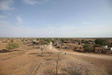A general view shows Badme, a territorial dispute town between Eritrea and Ethiopia currently occupied by Ethiopia, June 8, 2018. Picture taken June 8, 2018. REUTERS/Tiksa Negeri