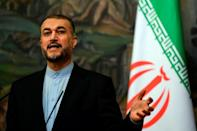 Last week, Iran's Foreign Minister Hossein Amir-Abdollahian warned that his country would sue South Korea if it continued to refuse to honour its debt (AFP/KIRILL KUDRYAVTSEV)