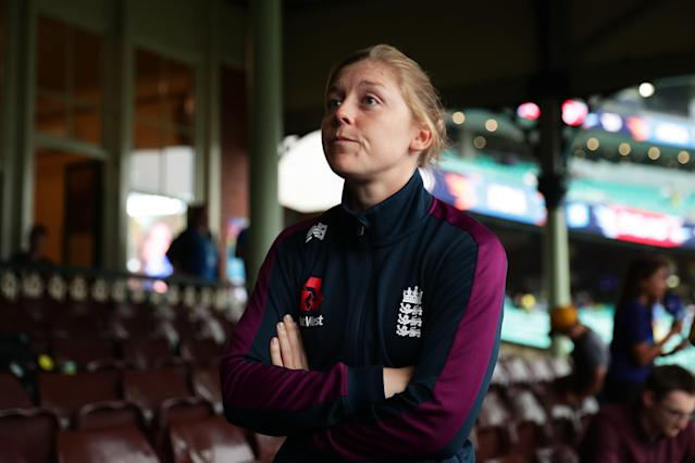 England captain Heather Knight. (Photo by Matt King-ICC/ICC via Getty Images)