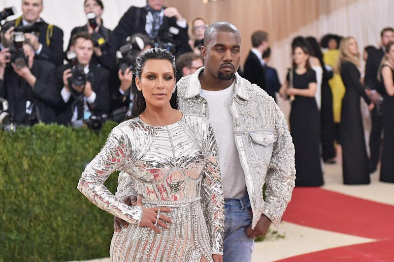 Kim Kardashian y Kanye West en la Met Gala 2016. (Foto: Mike Coppola / Getty Images)