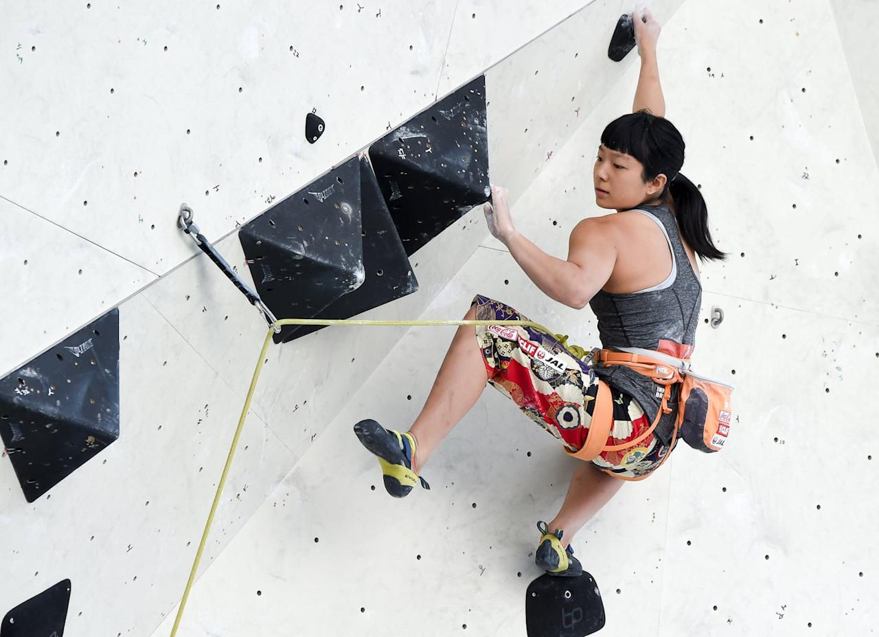 """<p>You'll be in awe at the strength of the athletes in the sport climbing competition. There will be three disciplines: speed climbing, bouldering, and lead climbing.<br></p> <p>Two competitors will face off in the speed climbing competition as they climb a 15-meter wall. In the bouldering competition, athletes have to scale fixed routes on a four-meter wall in a specified period of time. The lead climbing competition requires athletes to climb as high as they can up a 15-meter wall in a set time frame.<br></p> <p>Each climber will have to compete in all three disciplines, and their scores will be combined to determine the final rankings. Climbers must climb with their bare hands and climbing shoes; safety ropes are allowed.<br></p> <p><strong>Male athletes to watch:</strong> Jakob Schubert, Tomoa Narasaki, Kai Harada, Alex Megos, and Jernej Kruder.<br> <strong>Female athletes to watch:</strong> <a href=""""https://www.popsugar.com/fitness/Who-Ashima-Shiraishi-46416798"""" class=""""ga-track"""" data-ga-category=""""Related"""" data-ga-label=""""https://www.popsugar.com/fitness/Who-Ashima-Shiraishi-46416798"""" data-ga-action=""""In-Line Links"""">Ashima Shiraishi</a>, Alex Johnson, Valentina Aguado, Janja Garnbret, and Akiyo Noguchi.</p>"""