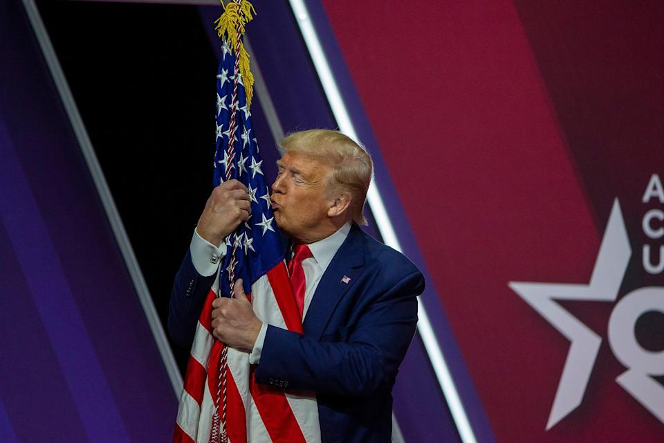 Donald Trump has been a staple at the Conservative Political Action Conference since he became president in 2017. (Getty Images)