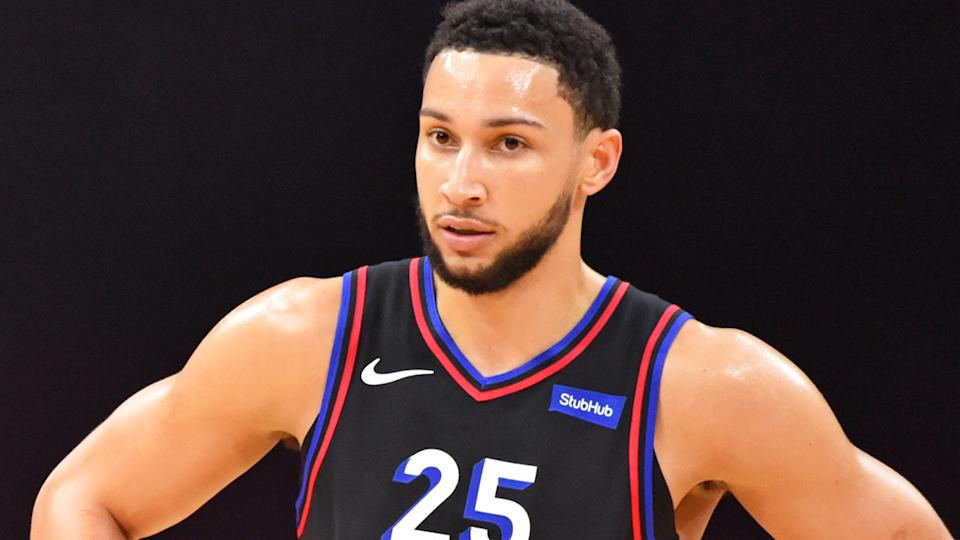 The Philadelphia 76ers have commenced their training camp without Australian star Ben Simmons, who has made good on his threat not to report to the team this season. (Photo by Jesse D. Garrabrant/NBAE via Getty Images)