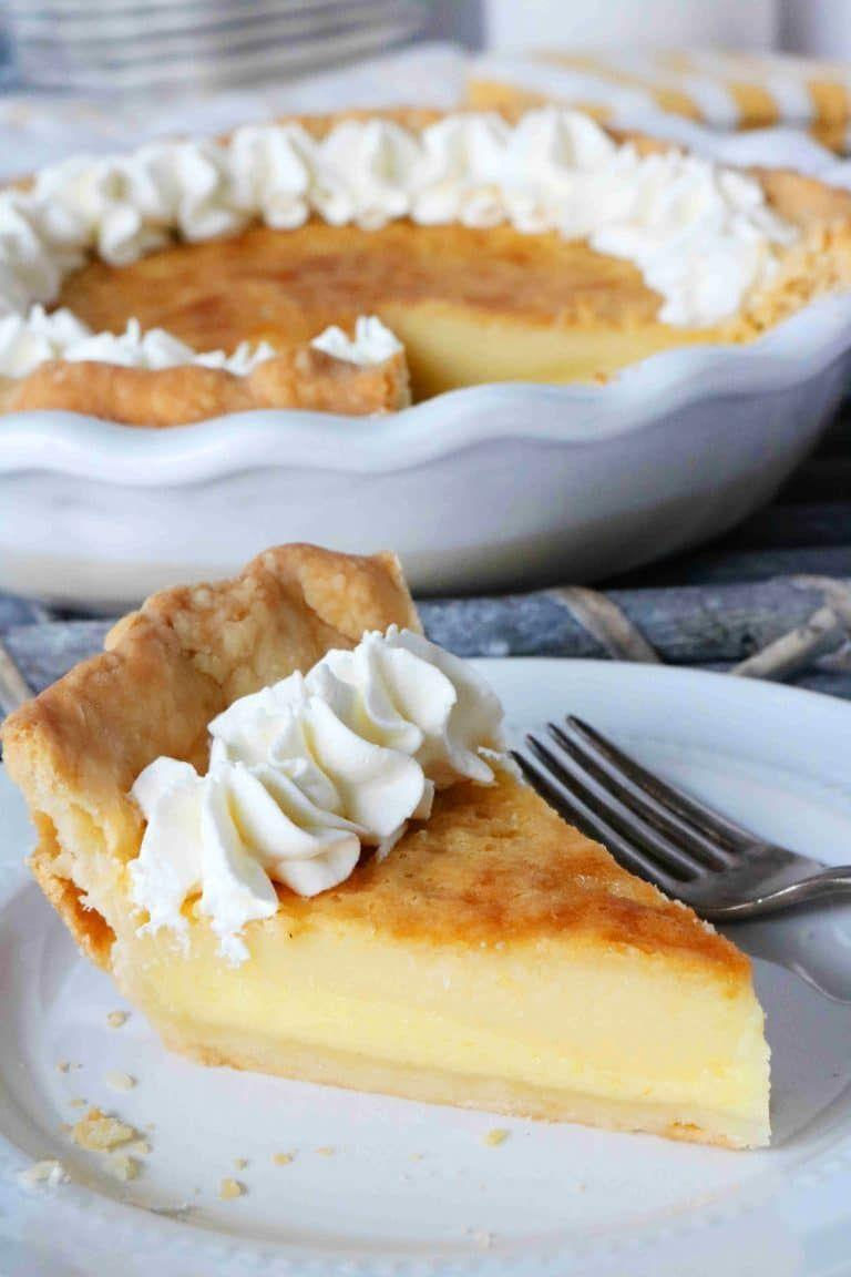 """<p>If you're looking for a classic buttermilk pie recipe, you've come to the right place. There's nothing complicated about this velvety dessert. It's simple, sweet, and absolutely delicious—and that's exactly how we like it!</p><p><strong>Get the recipe at <a href=""""https://www.theanthonykitchen.com/buttermilk-pie-recipe/"""" rel=""""nofollow noopener"""" target=""""_blank"""" data-ylk=""""slk:The Anthony Kitchen"""" class=""""link rapid-noclick-resp"""">The Anthony Kitchen</a>.</strong> </p>"""