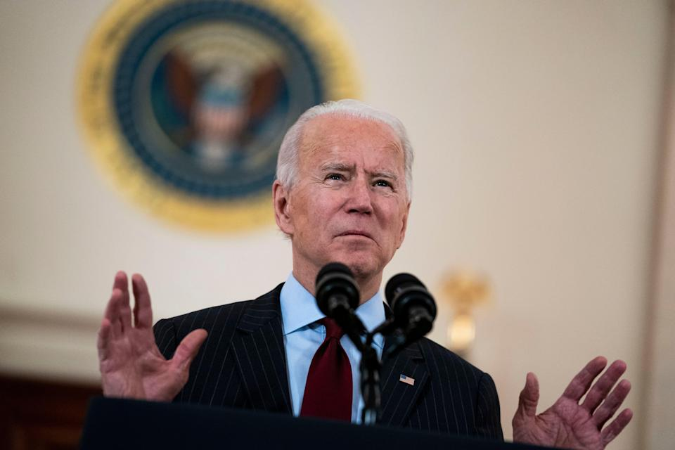 President Joe Biden delivers remarks on the lives lost to COVID-19 (EPA-EFE)