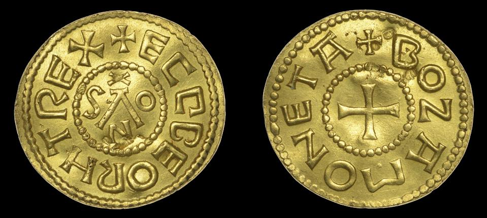 The coin was discovered by a metal detectorist in March last year (Dix Noonan Webb/PA) (PA Media)