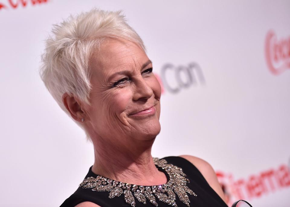 jamie lee curtis on the red carpet
