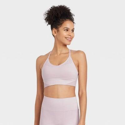 <p>We love the color of this <span>JoyLab Seamless Strappy Bra</span> ($20).</p>