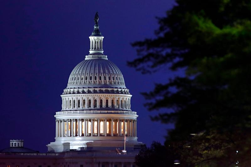 FILE - This April 18, 2019, file photo shows the dome of the U.S. Capitol in Washington. The Democratic-controlled House voted Tuesday, June 18, 2019, to block President Donald Trump's move to restrict transgender men and women from military service. (AP Photo/Patrick Semansky, File) ORG XMIT: NYSB222