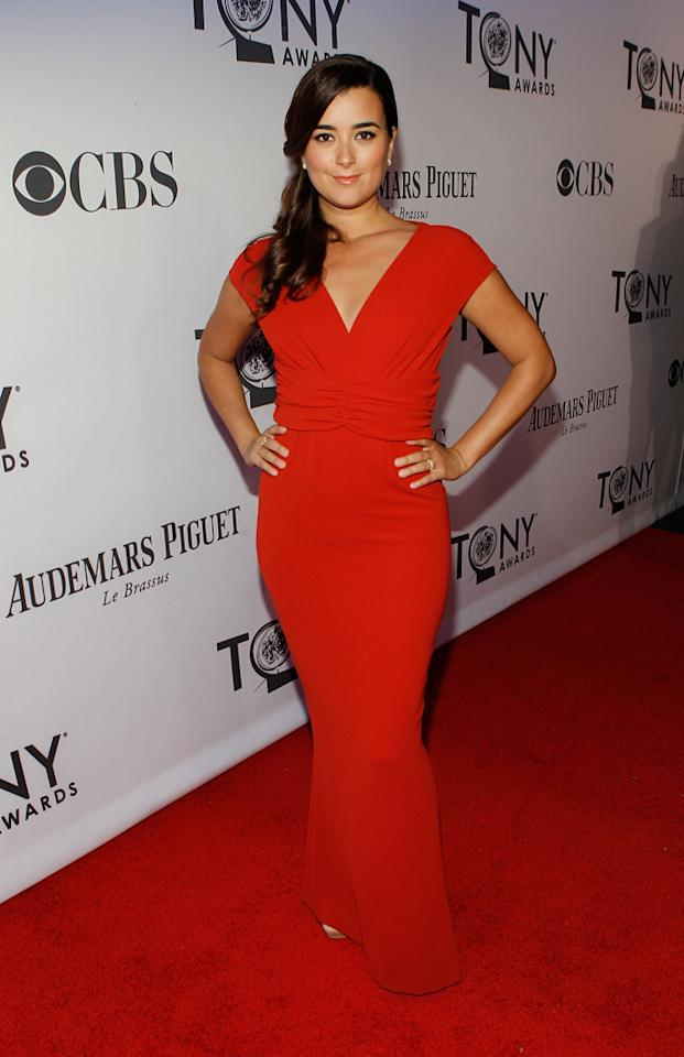 Cote de Pablo attends the 66th Annual Tony Awards at The Beacon Theatre on June 10, 2012 in New York City.